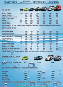Автомойка Фаворит - адрес и цены на услуги